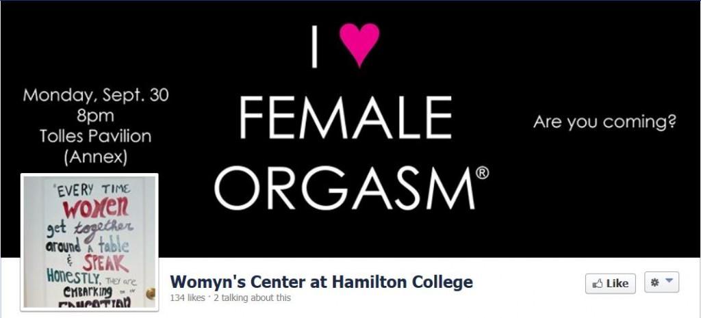 Hamilton College Womyn's Center - I love female orgasm